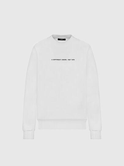 Diesel - S-BIAY-COPY, Weiß - Sweatshirts - Image 1