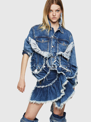 DE-ABBY, Mittelblau - Denim jacken