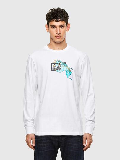 Diesel - T-JUST-LS-A1, Weiß - T-Shirts - Image 1