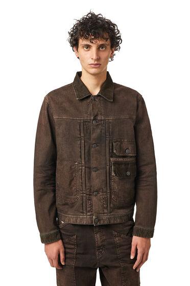 Jacke aus Samtdenim