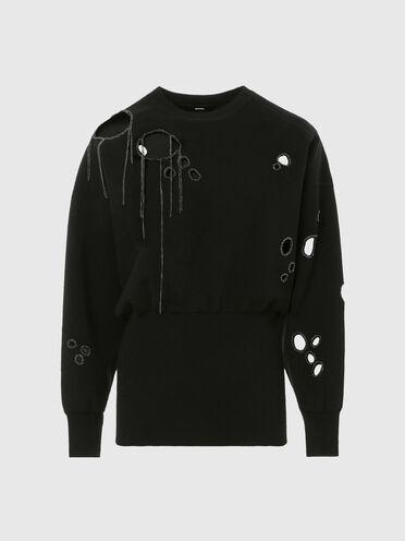 Pullover mit Kettendetails und Cutout-Akzenten