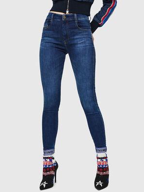 Slandy High 089AJ, Dunkelblau - Jeans