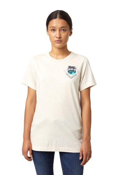 Pigmentdruck-T-Shirt mit Print