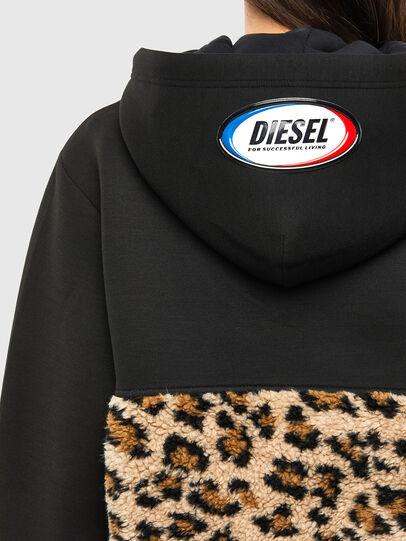 Diesel - S-GIRK-HOOD-ZIP-TARS, Schwarz - Sweatshirts - Image 6