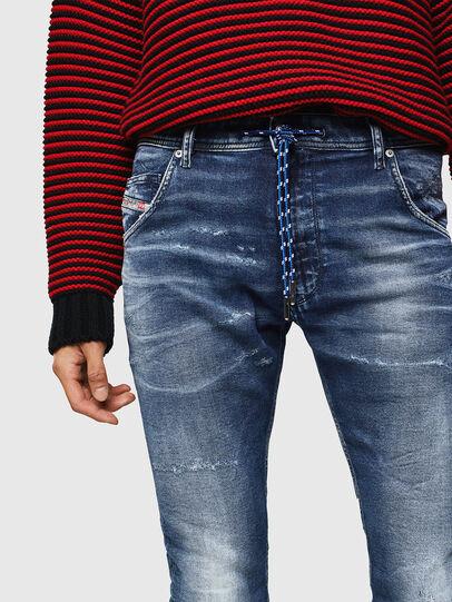 Diesel - Krooley JoggJeans 0096M, Dunkelblau - Jeans - Image 3