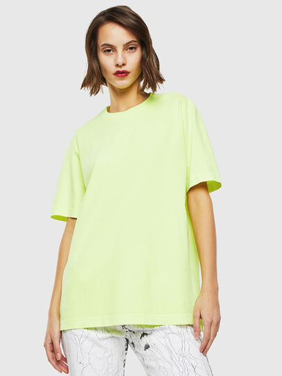 Diesel - T-JUST-SLITS-FLUO, Neongelb - T-Shirts - Image 2