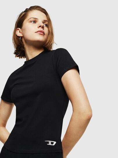 Diesel - UFTEE-ROUNDFEM, Schwarz - T-Shirts - Image 4