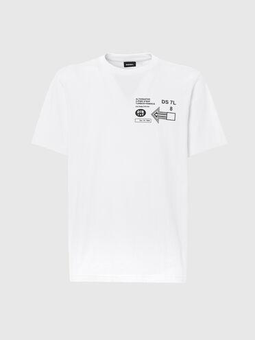 T-Shirt mit grafischen Logo-Aufdrucken