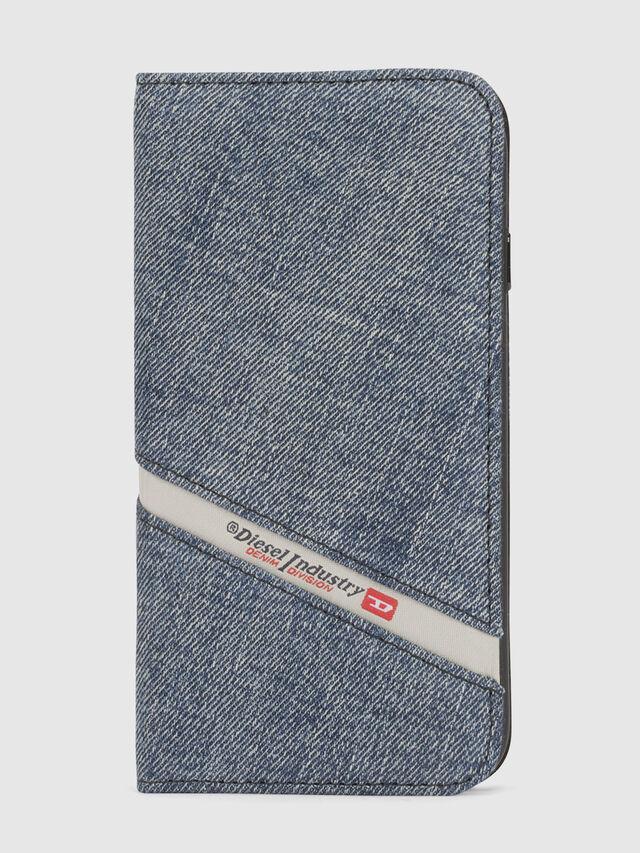 DENIM IPHONE X FOLIO, Jeansblau
