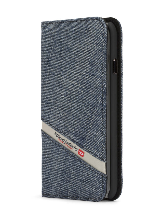 Diesel - DENIM IPHONE 8 PLUS/7 PLUS FOLIO, Jeansblau - Klappcover - Image 2