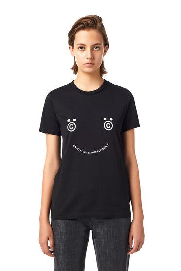 Green Label T-Shirt mit Smiley