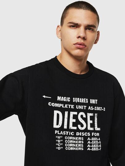 Diesel - S-GIR-B5, Schwarz - Sweatshirts - Image 4