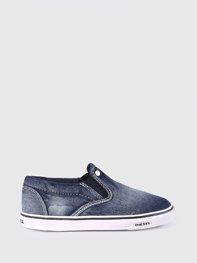 KIDS SLIP ON 21 DENIM CH, Jeansblau - Schuhe - Image 1