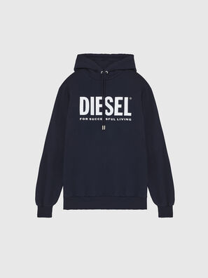 S-GIR-HOOD-DIVISION-, Dunkelblau - Sweatshirts