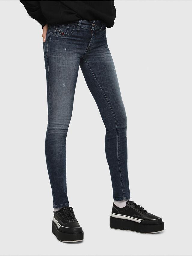 Diesel - Livier 0687L, Mittelblau - Jeans - Image 1