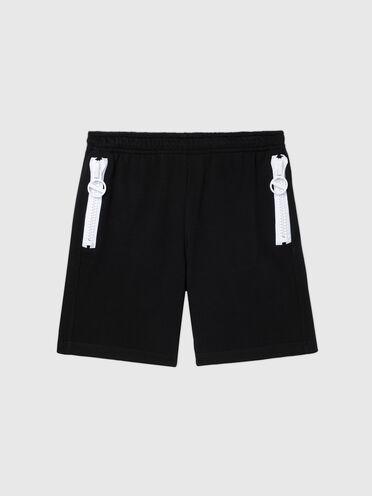 Shorts aus Sweatshirtstoff mit Kontrastdetail