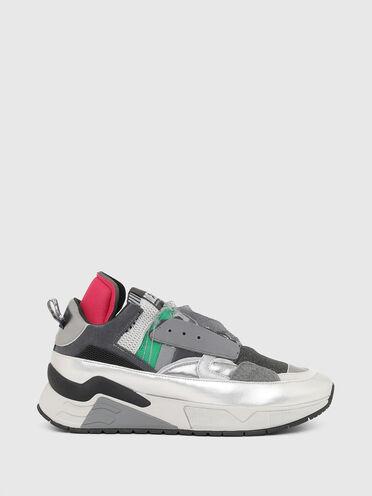 Sneaker ohne Verschluss mit Metallic-Besatz