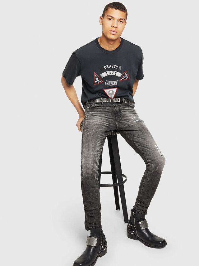 Diesel - PS-T-JUST-RIBS, Schwarz - T-Shirts - Image 6