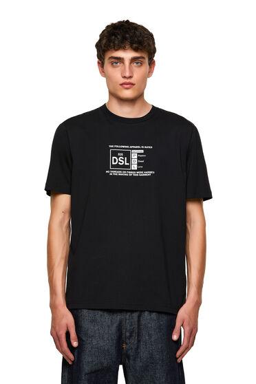 T-Shirt mit reflektierendem Diesel-Logo