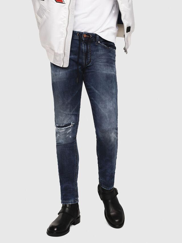 Diesel - Thommer JoggJeans 069AA, Dunkelblau - Jeans - Image 1