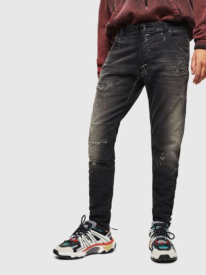 Diesel - Krooley JoggJeans 084AE, Schwarz/Dunkelgrau - Jeans - Image 1