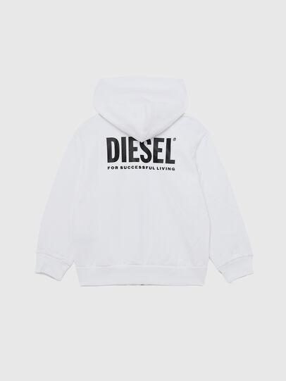 Diesel - SGIRKHOODZIP-LOGO OV, Weiß - Sweatshirts - Image 2