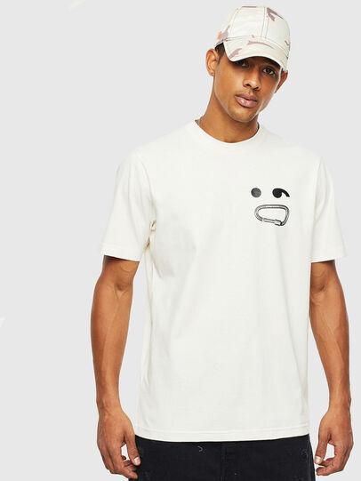 Diesel - T-JUST-T14, Weiß - T-Shirts - Image 1