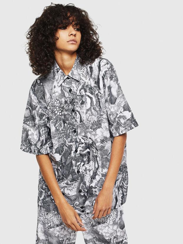 C-FRY, Schwarz/Weiß - Hemden