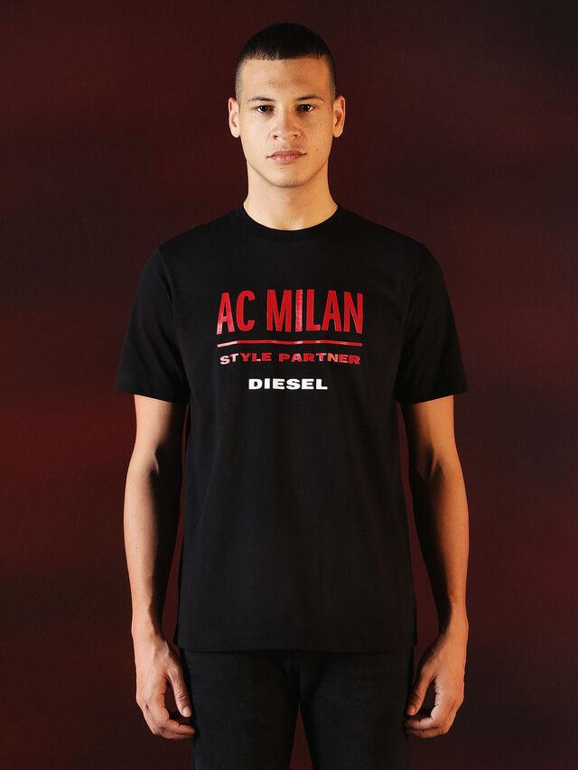 Diesel - DVL-TSHIRT-PRINT-SPECIAL COLLECTION, Schwarz - T-Shirts - Image 2