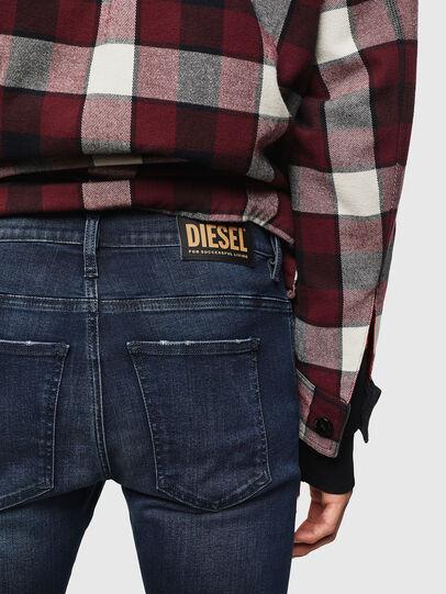Diesel - D-Istort 0870C, Dunkelblau - Jeans - Image 4