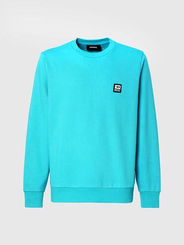 Sweatshirt mit D-Logo-Patch