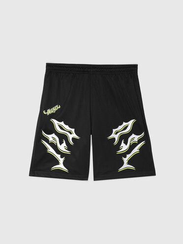 Shorts im Boxer-Style mit DSL-Stickerei