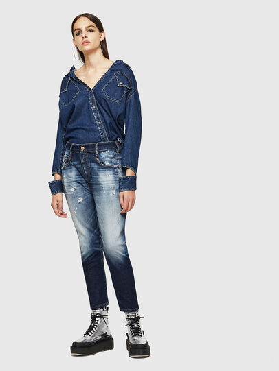 Diesel - Fayza 0092I, Dunkelblau - Jeans - Image 6