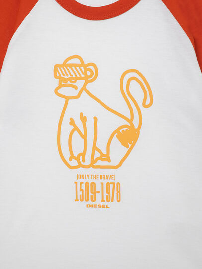 Diesel - TBALYB-R, Weiss/Orange - T-Shirts und Tops - Image 3