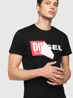 T-DIEGO-QA, Schwarz - T-Shirts