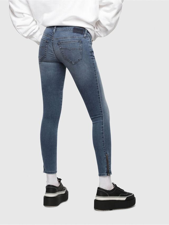 Diesel - Skinzee Low Zip 0681P, Mittelblau - Jeans - Image 2