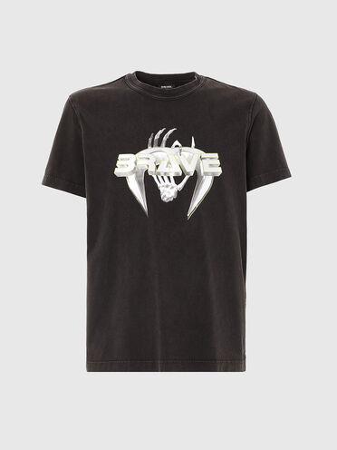 T-Shirt mit Brave-Schriftzug