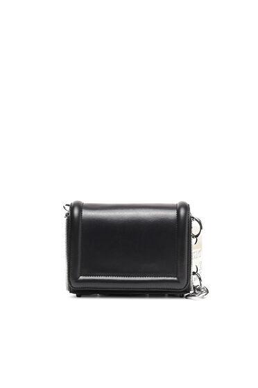 Kleine Crossbody-Tasche aus Leder mit Reißverschlussbesatz