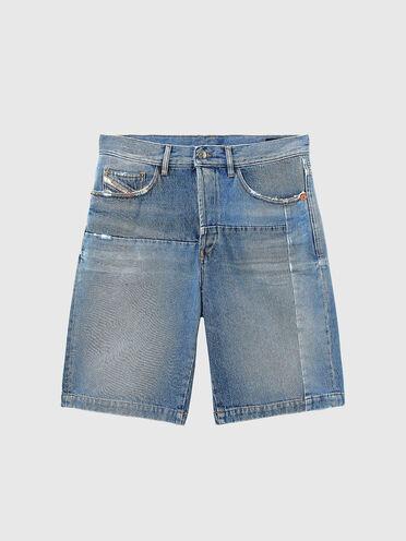 Gerade geschnittene Shorts aus Denim in Vintage-Optik