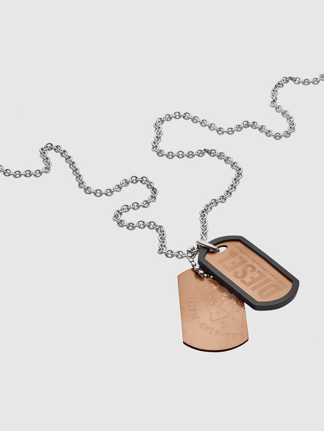 Diesel - NECKLACE DX1096, Bronze - Halsketten - Image 2