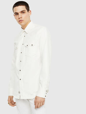 D-LEO, Weiß - Denimhemden
