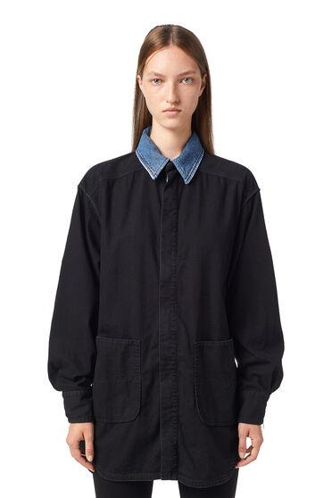Shirtkleid aus Stonewash-Denim
