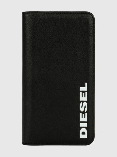 Diesel - DIESEL 2-IN-1 FOLIO CASE FOR IPHONE XR, Schwarz/Weiß - Klappcover - Image 1