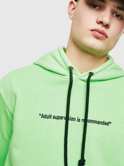 Diesel - S-GIRK-HOOD-FLUO, Neongrün - Sweatshirts - Image 5