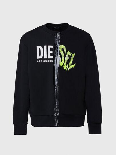Diesel - S-BIAY-SPLIT, Schwarz - Sweatshirts - Image 1