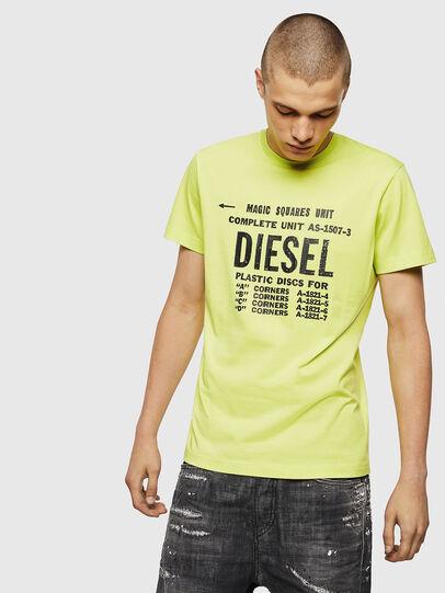 Diesel - T-DIEGO-B6, Neongelb - T-Shirts - Image 1