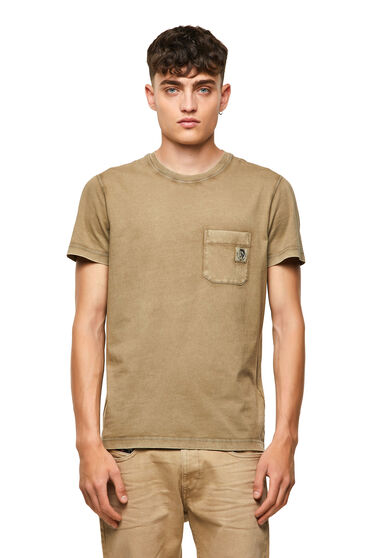 T-Shirt aus gewaschener Baumwolle