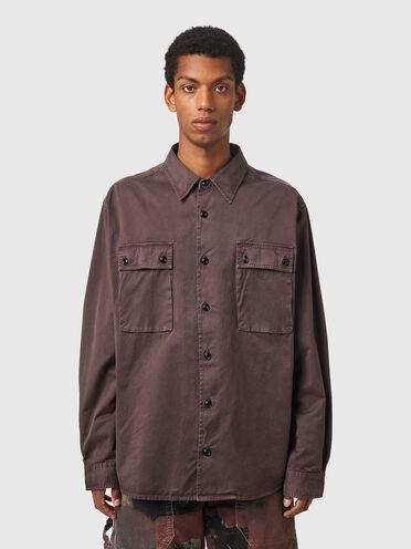 Stückgefärbtes Shirt aus Baumwolltwill