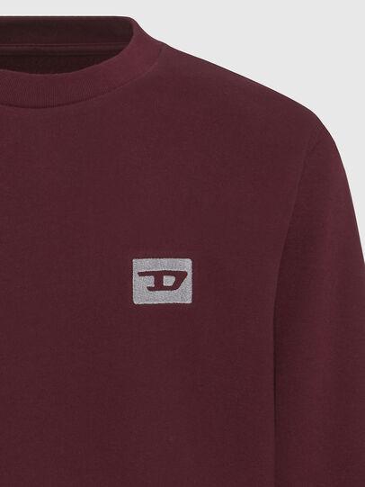 Diesel - UMLT-WILLY, Bordeauxrot - Sweatshirts - Image 3