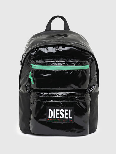 Rucksack aus Ripstop mit kontrastfarbenem Reißverschluss